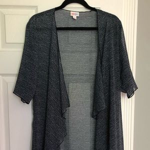 LuLaRoe Navy/Gray Shirley.
